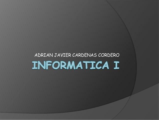ADRIAN JAVIER CARDENAS CORDERO