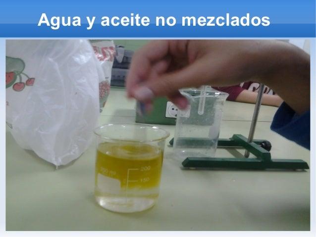 Agua y aceite no mezclados