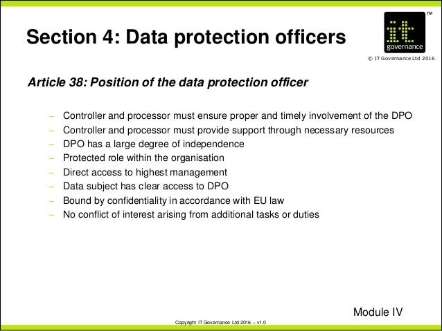 Eu Gdpr The Role Of The Data Protection Officer