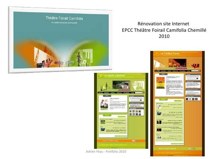 Rénovation site Internet                          EPCC Théâtre Foirail Camifolia Chemillé                                 ...