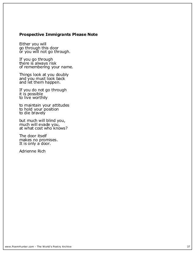 living in sin adrienne rich poem