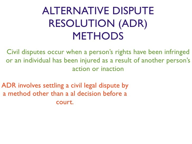 history of alternative dispute resolution