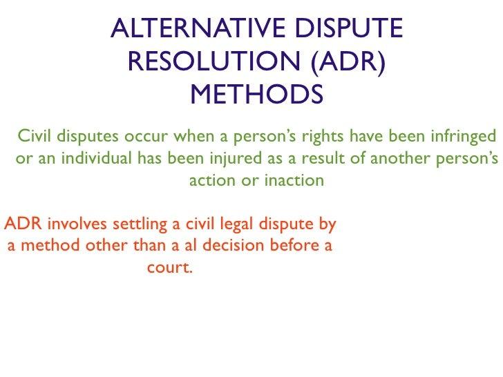 history of alternative dispute resolution