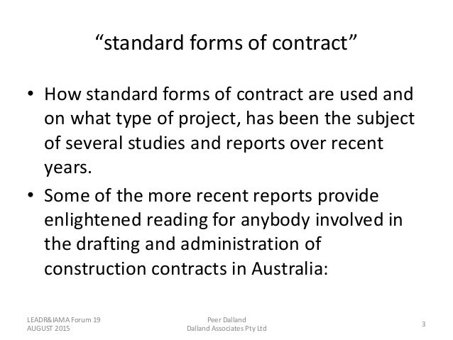 Adr Options On Construction Contracts