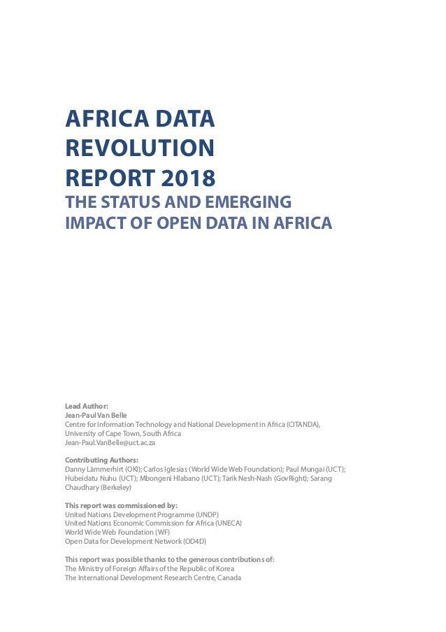 Africa Data Revolution Report 2018