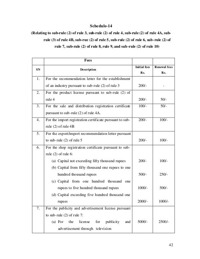 42 Schedule-14 (Relating to sub-rule (2) of rule 3, sub-rule (2) of rule 4, sub-rule (2) of rule 4A, sub- rule (3) of rule...