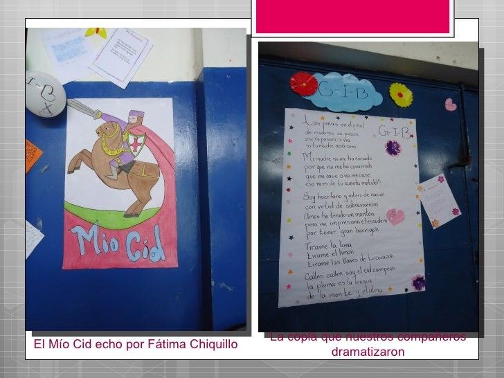 La copla que nuestros compañerosEl Mío Cid echo por Fátima Chiquillo                                                  dram...