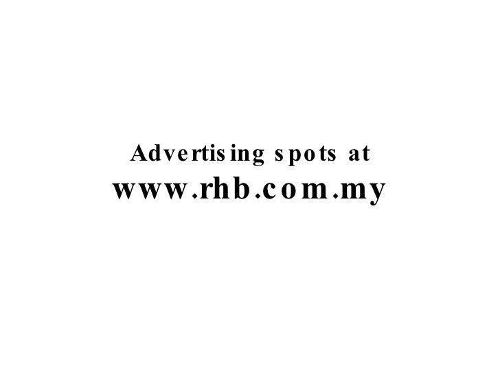 Advertising spots at www.rhb.com.my