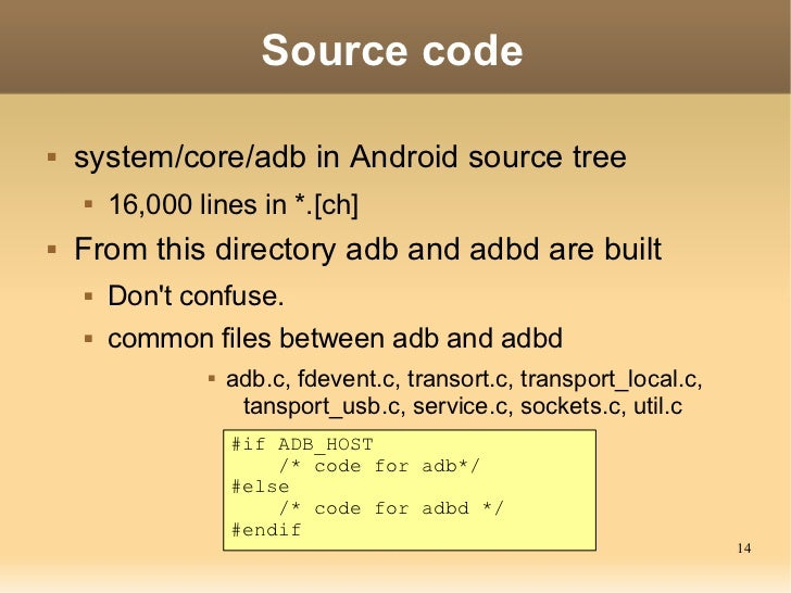 ADB(Android Debug Bridge): How it works? Slide 14