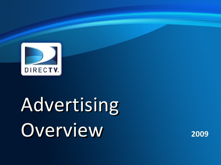 Advertising Overview 2009