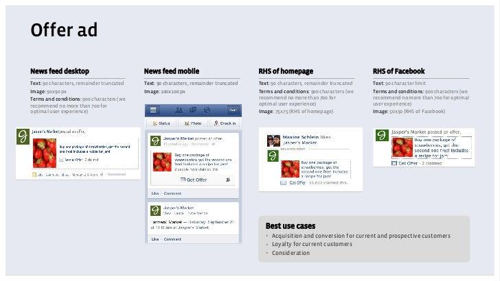 Offer adNews feed desktop                          News feed mobile                           RHS of homepage             ...