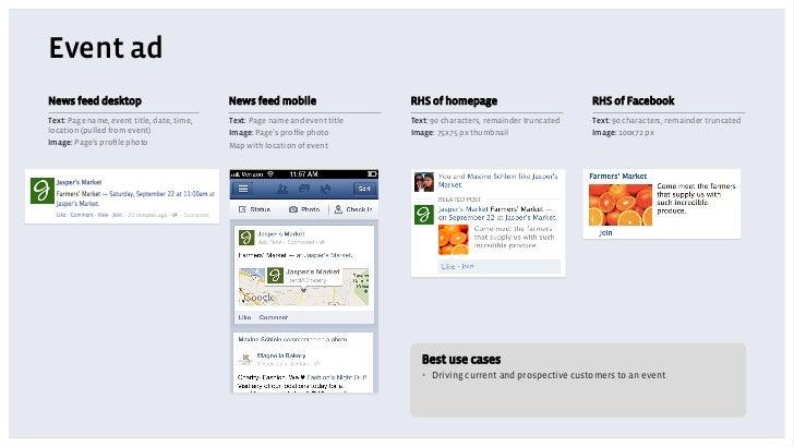 Event adNews feed desktop                           News feed mobile                  RHS of homepage                     ...