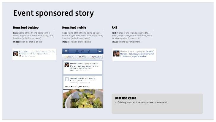 Event sponsored storyNews feed desktop                            News feed mobile                             RHSText: Na...