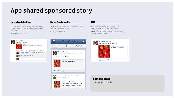 App shared sponsored storyNews feed desktop                             News feed mobile                            RHSTex...