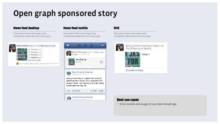 Open graph sponsored storyNews feed desktop                    News feed mobile                     RHSCharacter limits an...