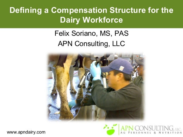 www.apndairy.com Defining a Compensation Structure for the Dairy Workforce Felix Soriano, MS, PAS APN Consulting, LLC