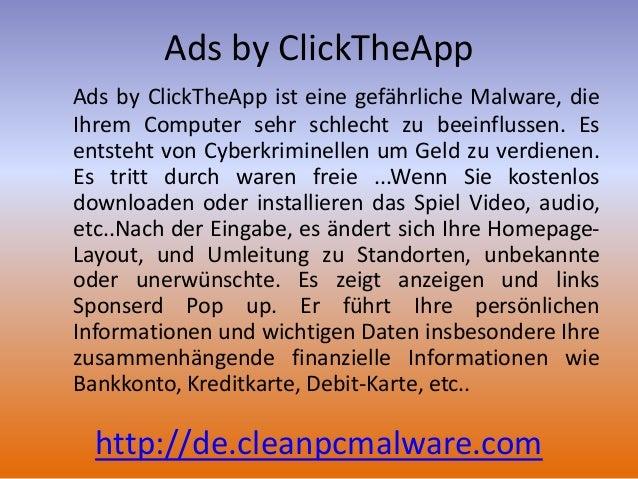 Entfernen von Ads by ClickTheApp: Deinstallations-Informationen Slide 2