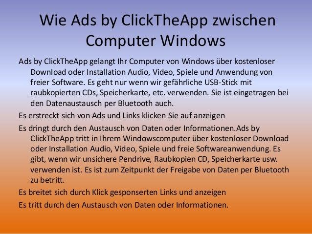 Entfernen von Ads by ClickTheApp: Deinstallations-Informationen Slide 3
