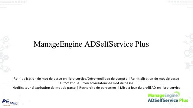 ManageEngine ADSelfService Plus Réinitialisation de mot de passe en libre-service/Déverrouillage de compte | Réinitialisat...