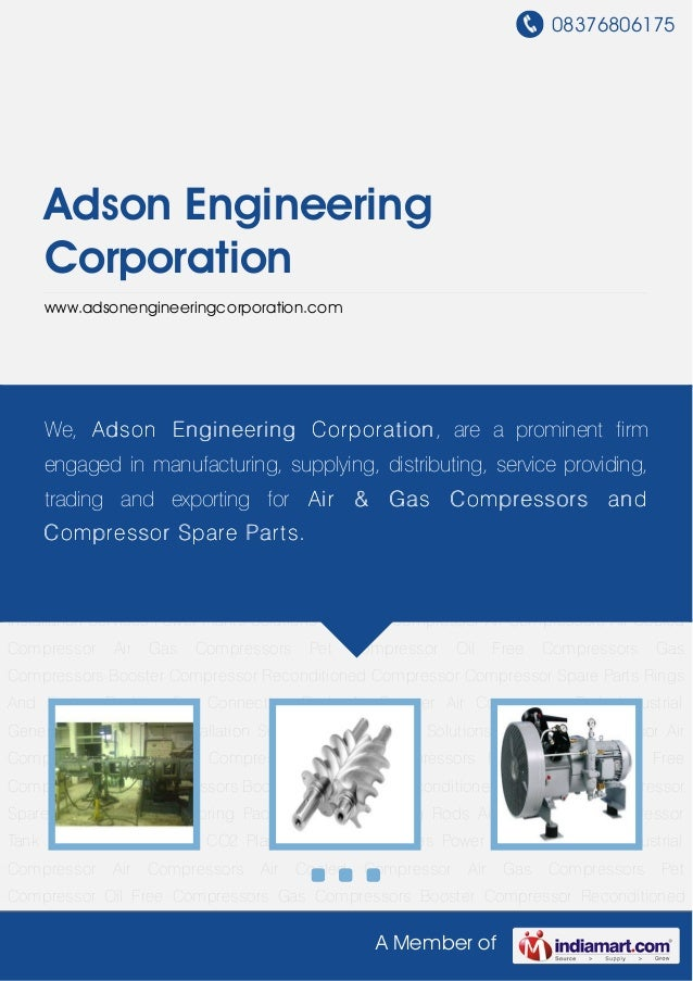 08376806175A Member ofAdson EngineeringCorporationwww.adsonengineeringcorporation.comIndustrial Compressor Air Compressors...