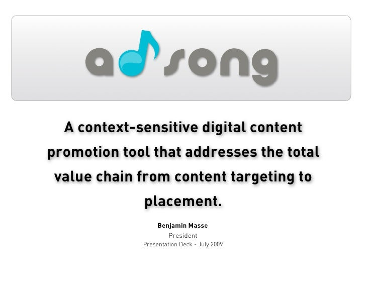 A context-sensitive digital content promotion tool that addresses the total  value chain from content targeting to        ...