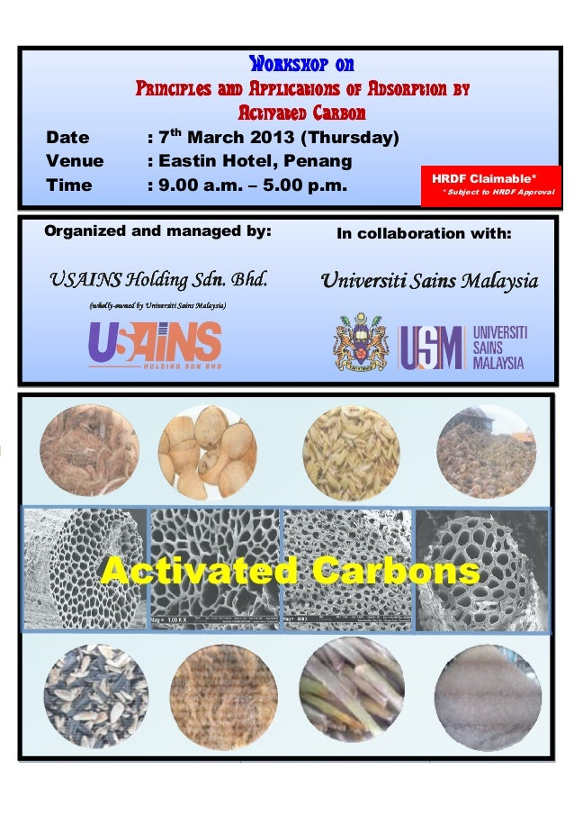 Workshop on                   Principles and Applications of Adsorption by                                 Activated Carbo...
