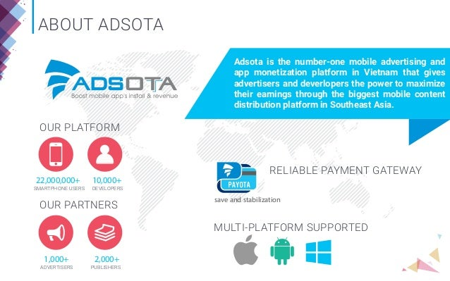 MOBILE MARKET OVERVIEW Game statistics; 3. ABOUT ADSOTA ...