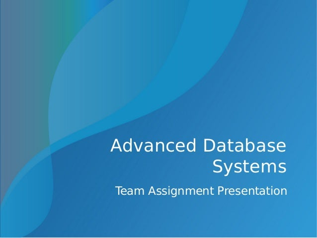 database systems assignment