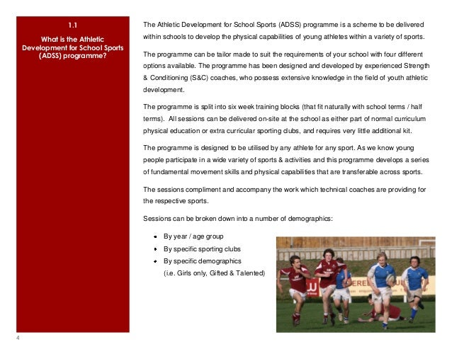 Athletic Development For School Sports Brochure