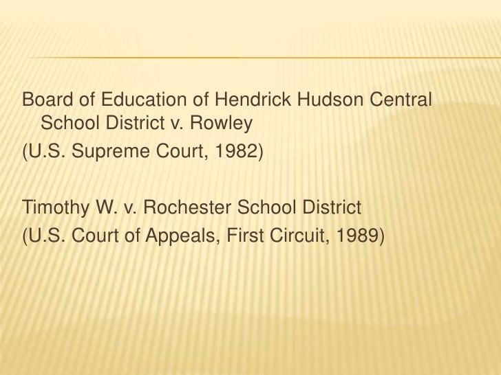 The board of education v rowley