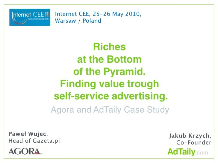 Internet CEE, 25-26 May 2010,                Warsaw / Poland                            Riches                     at the ...
