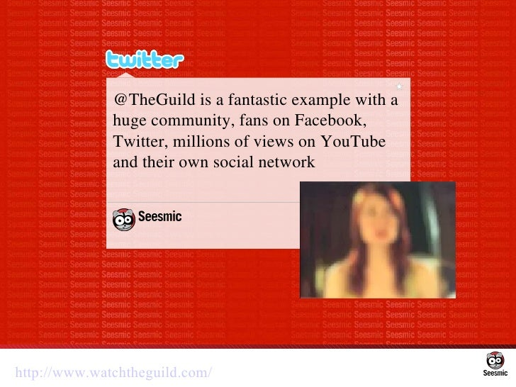 @TheGuild is a fantastic example with a huge community, fans on Facebook, Twitter, millions of views on YouTube and their ...