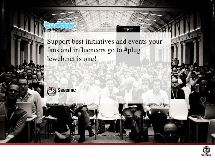 Support best initiatives and events your fans and influencers go to #plug leweb.net is one!