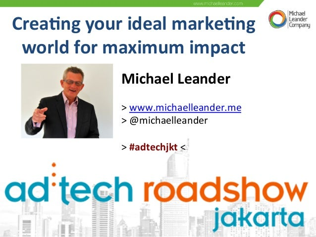 Crea%ng  your  ideal  marke%ng   world  for  maximum  impact   Michael  Leander        >  www.mi...