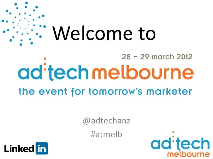 Welcome to  @adtechanz   #atmelb