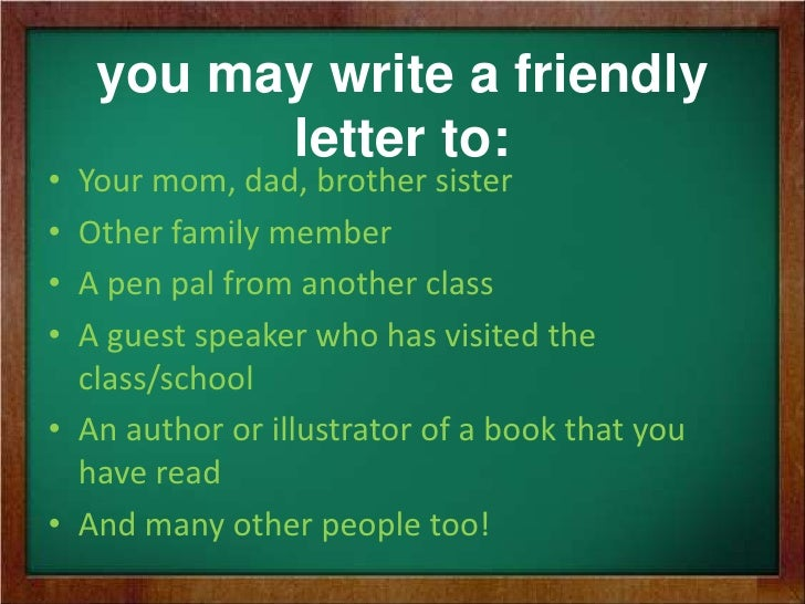 How to write a friendly letter 4 you may write a friendly letter spiritdancerdesigns Choice Image