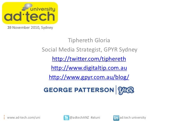 1023 November 2010, Sydney                                Tiphereth Gloria                      Social Media Strategist, G...