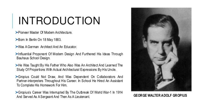 CONTENTS INTRODUCTION PRINCIPLES BUILDINGS Architecture Begins Where The Engineering Ends Walter Gropius 3