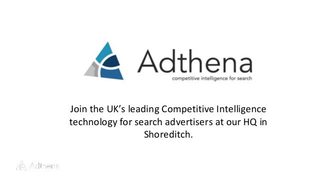 Join the UK's leading Competitive Intelligence technology for search advertisers at our HQ in Shoreditch.