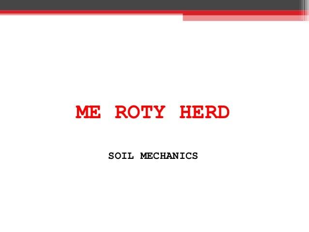 ME ROTY HERD SOIL MECHANICS