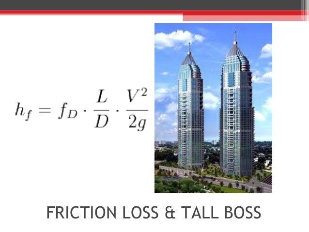 FRICTION LOSS & TALL BOSS