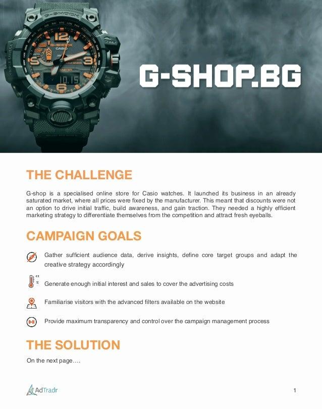 Casio G Shock Watches Case Study