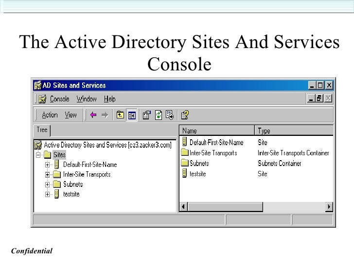 Active directory training 53 the active directory sites and services yelopaper Images