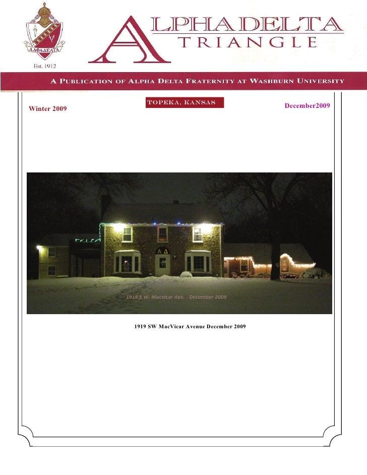 TOPEKA, KANSAS Winter 2009                                           December2009                   1919 SW MacVicar Avenu...