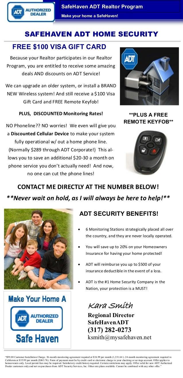 SafeHaven ADT Realtor Program                                                    Make your home a SafeHaven!              ...