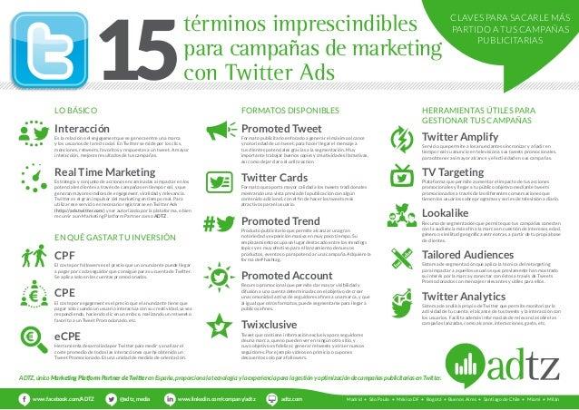 términos imprescindibles  para campañas de marketing  con Twitter Ads 15  Lo básico  Interacción  Es la relación o el enga...