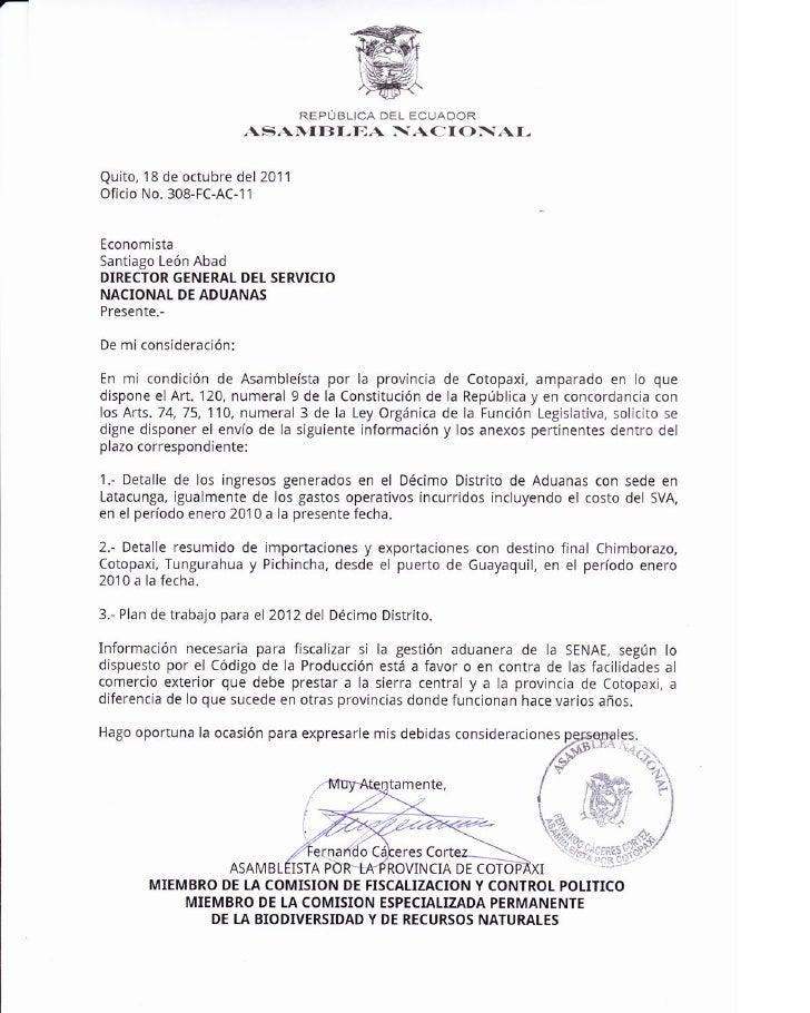 ACTITUD SOSPECHOSA DEL SERVICIO NACIONAL DE ADUANA EN CONTRA DE COTOPAXI Y DE LA REGION CENTRAL DEL PAIS