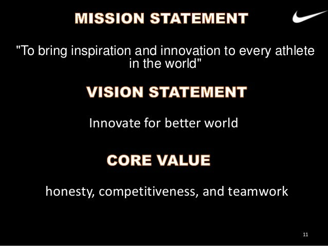 positioning statement of adidas Nike inc's corporate mission statement and corporate vision statement  vision  statements evolve to accurately represent the company's position as  firms,  such as adidas, puma, asics, under armour, and vf corporation.