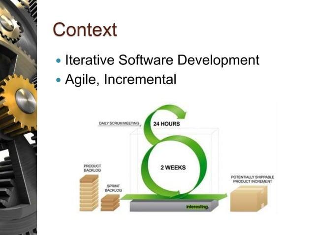 Context  Iterative Software Development  Agile, Incremental