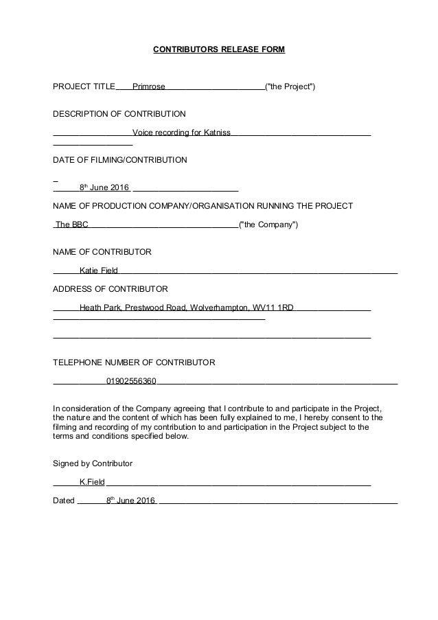 Adult Contributor Agreement